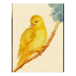 Yellow Bird Postcard