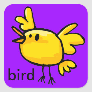 yellow bird sticker