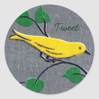 Yellow Bird Stickers