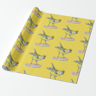 Yellow Bird  Wrapping Paper, 30 in x 6 ft Wrapping Paper