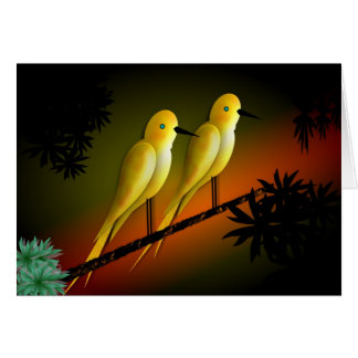 YELLOW BIRDS CARD