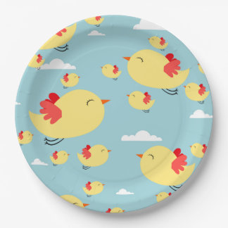 Yellow Birds in the Sky 9 Inch Paper Plate