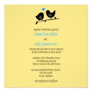 yellow birds invitation