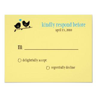 yellow birds rsvp card