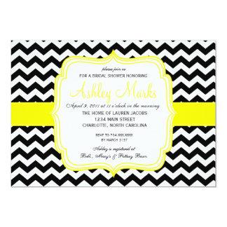 "Yellow & Black 5"" X 7"" Invitation Card"