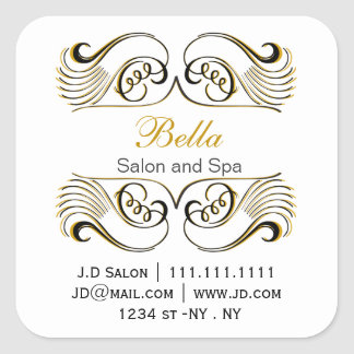 yellow black and white Chic Business stickers
