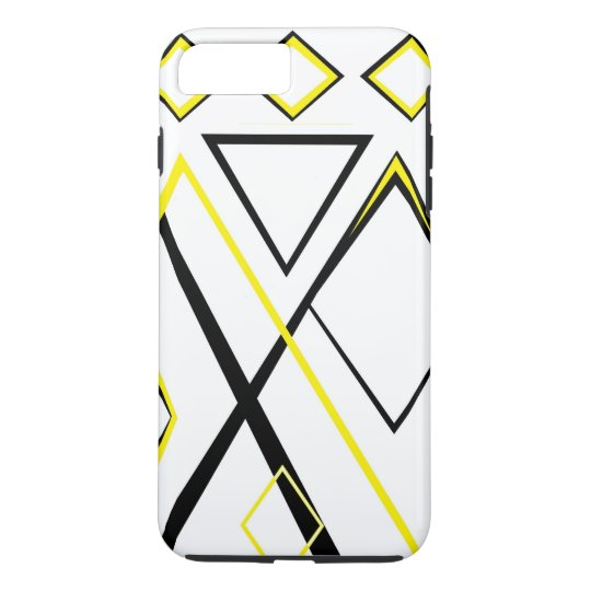 Yellow black and white iPhone 7 plus case