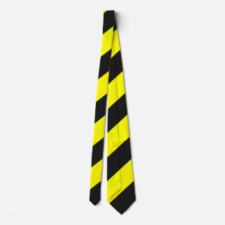 Yellow Black Attention Warning Stripes Tie