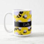 Yellow & Black Bumble Bee Classic White Coffee Mug