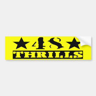 Yellow & Black bumper sticker