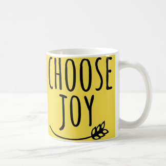 Yellow Black Choose Joy - Fun Quote Coffee Mug