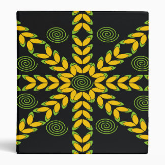 Yellow & Black Decorative Pattern Designer Binders