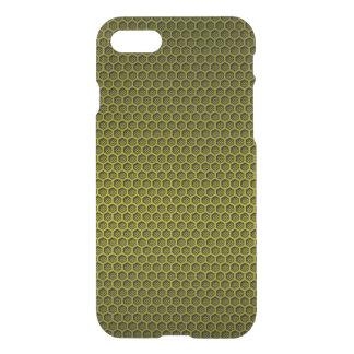 Yellow & Black Digital Honeycomb Carbon Fiber iPhone 7 Case