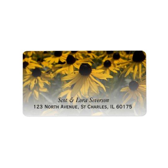 Yellow Black Eyed Susans Flower Field