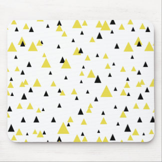 Yellow & Black Geometric Pattern Mousepad