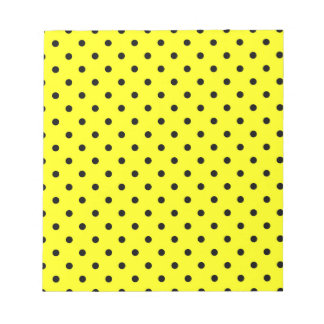 Yellow black polka dot notepad