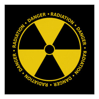 Yellow & Black Radiation Symbol Poster
