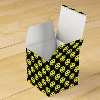 Yellow-Black Smiley Face Beads 1-FAVOR BOX, square Party Favor Box