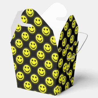 Yellow-Black Smiley Face Beads 1-FAVOR BOX,t-o Wedding Favor Box