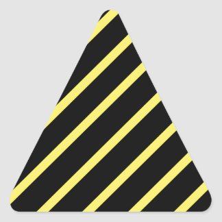 Yellow black stripes triangle sticker