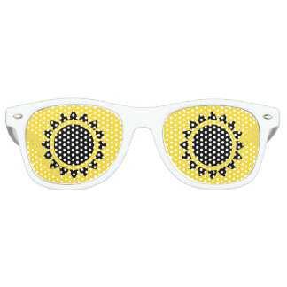 Yellow | Black Sunflower Adult Retro Party Shades