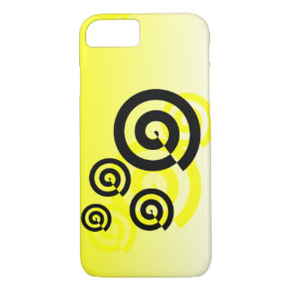 Yellow & black swirls graphic phone cases