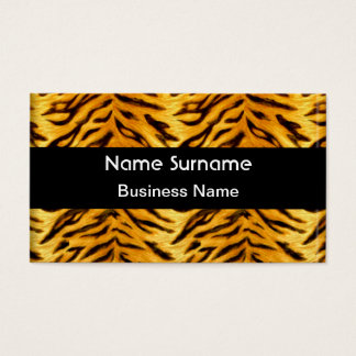 Yellow Black Tiger Look Business Card