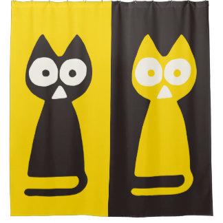 Yellow Black Triangle Symbolic Cat
