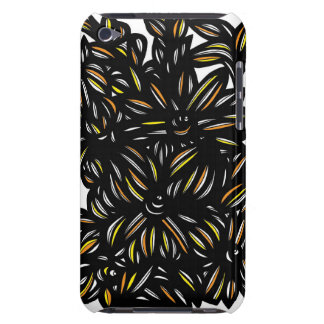 Yellow Black White Flowers Group iPod Case-Mate Case