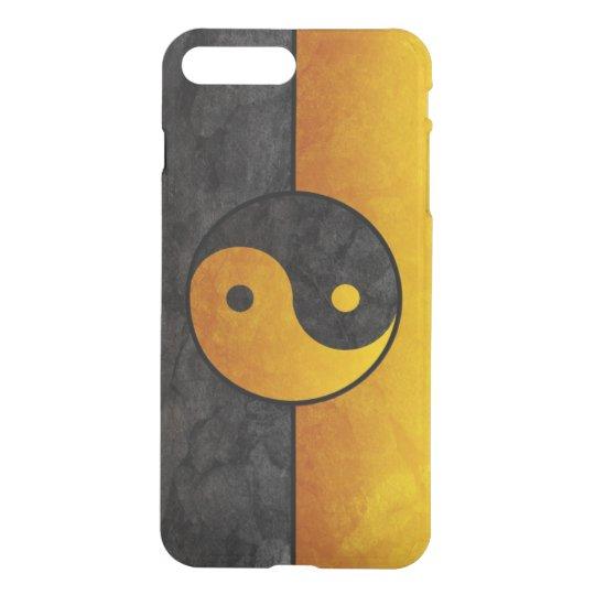 yellow black yin yang sign iPhone 8 plus/7 plus case