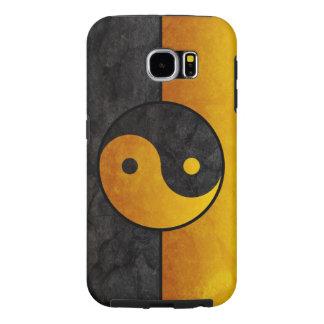 yellow black yin yang sign samsung galaxy s6 cases