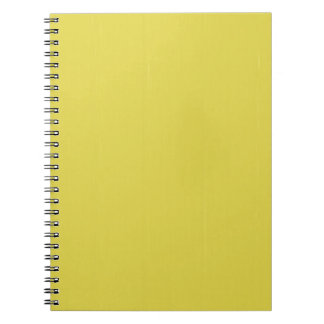 Yellow Blank Plain DIY template add text photo Notebook