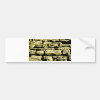 yellow blocks of rock bumper sticker