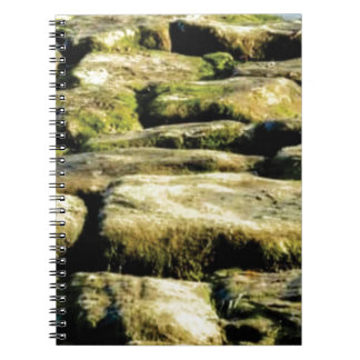yellow blocks of rock notebooks