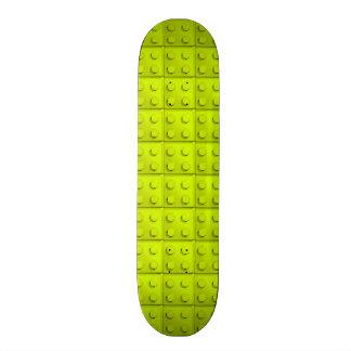 Yellow blocks pattern skate board decks