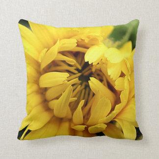 Yellow Bloom 2 Throw Pillow