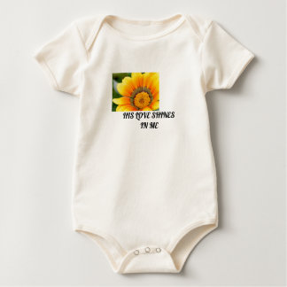 Yellow Bloom Baby Bodysuit