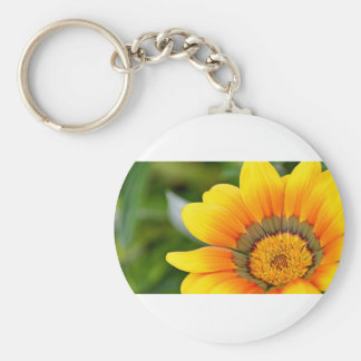 Yellow Bloom Basic Round Button Keychain
