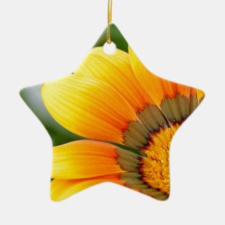 Yellow Bloom Ceramic Ornament