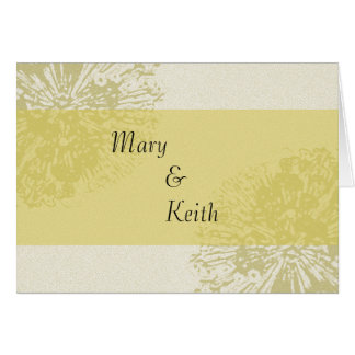 Yellow Blossom Save the Date Card