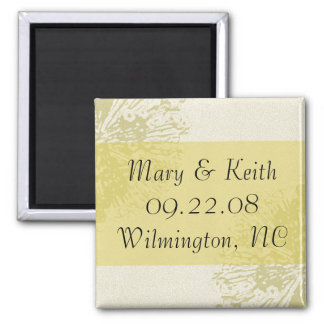 Yellow Blossom Save the Date Magnet