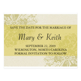 Yellow Blossom Save the Date Post Card