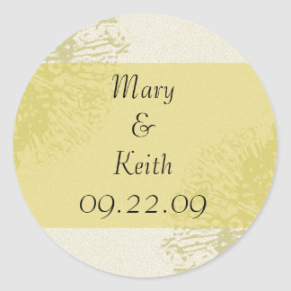 Yellow Blossom Save the Date Classic Round Sticker