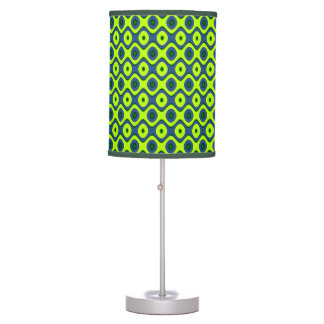Yellow Blue and Green Colorful Retro Pattern Desk Lamps