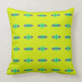 Yellow Blue and Green Swirls Pillow