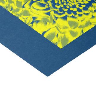 YELLOW BLUE FLOWER TISSUE PAPER