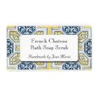 Yellow Blue Geometric Tile Custom Soap Labels