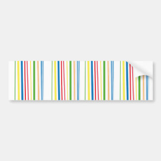 Yellow Blue Green Stripes Bumper Sticker