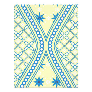 Yellow Blue Hourglass Design,Multi products select Letterhead Design