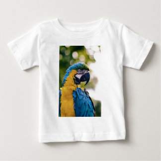 Yellow Blue Macaw Parrot Baby T-Shirt